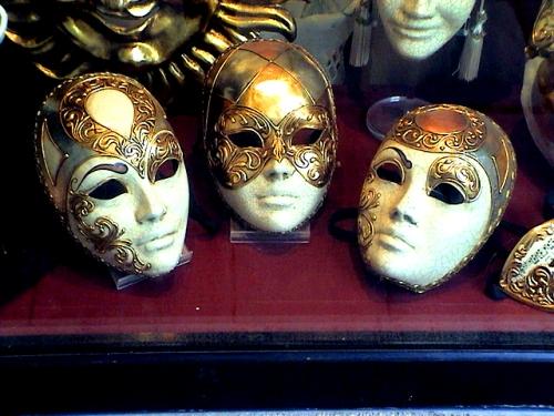 mascara veneziana metalizada